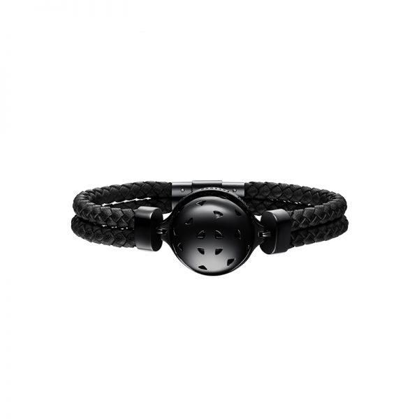 Galaxy Black Leather Bracelet