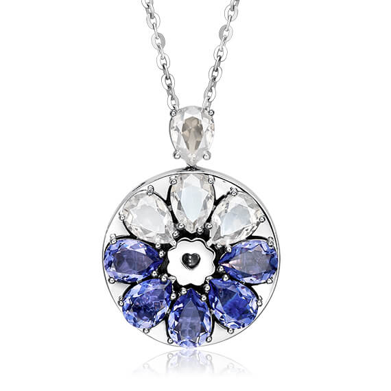 Sea Wind Swarovski Crystal Pendant