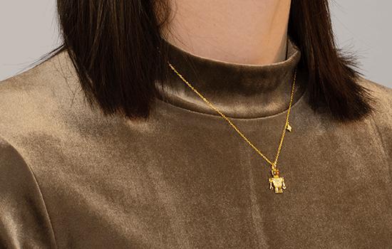Totwoo robot necklace