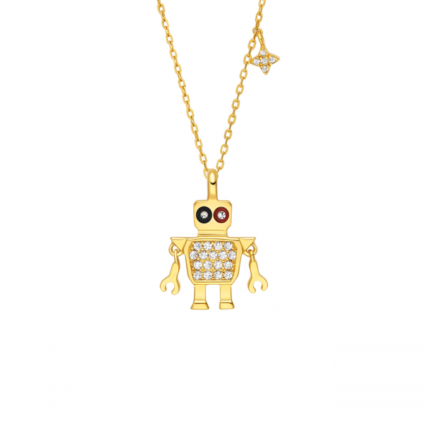Totwoo robot necklace