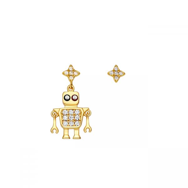 Totwoo robot earrings