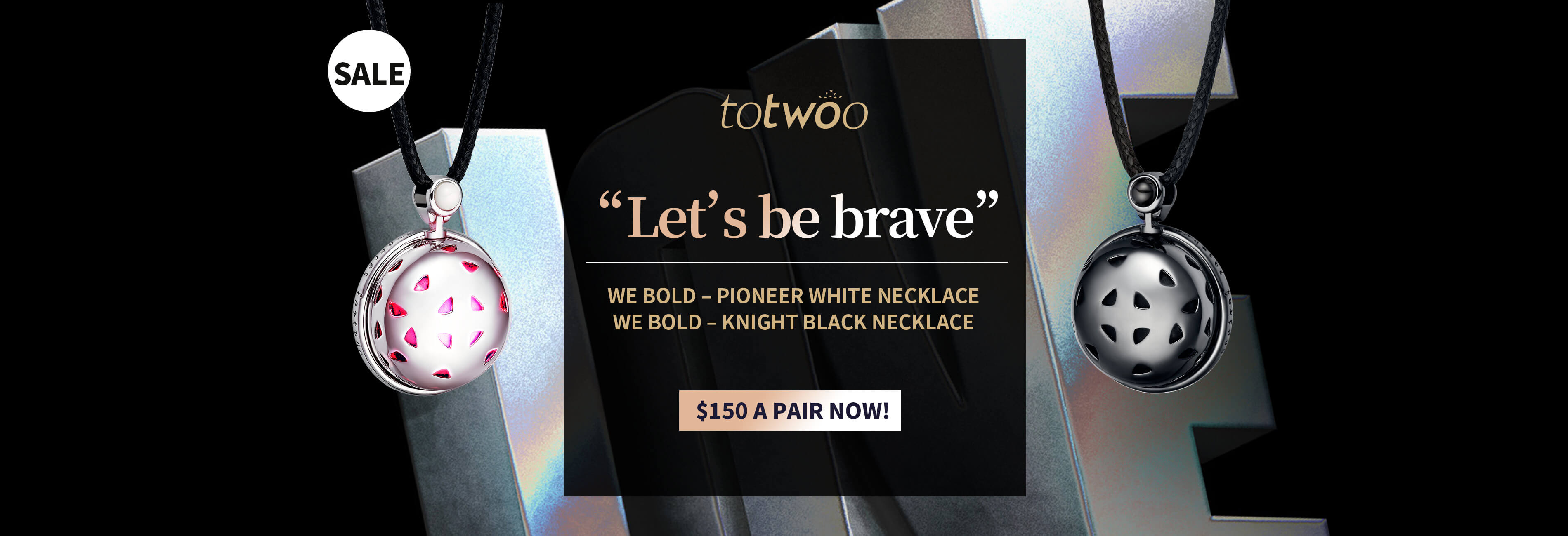 Totwoo we bold necklace