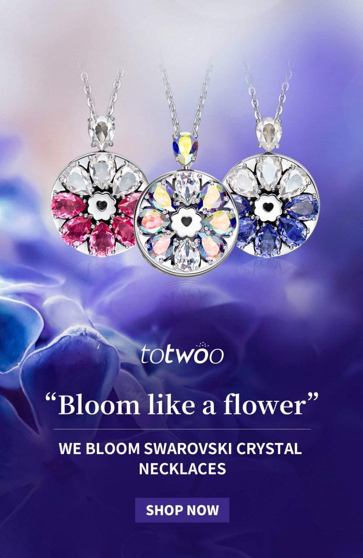 we bloom swarovski crystal necklace