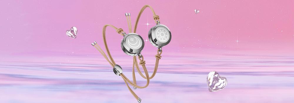 Totwoo Sun moon leather bracelet