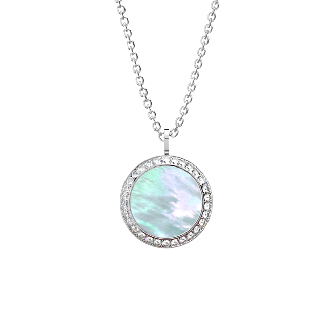 the moment silver zircon necklace